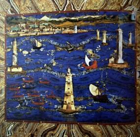 Cristoffano Gaffuri - Přístav v Livorno/Port in Livorno, 1604, Galeria degli Uffizi