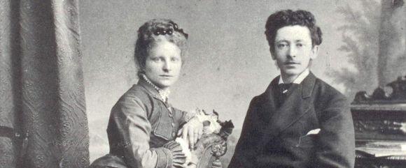 Emil Gallé s chotí, 1875, krátce po svatbě