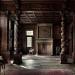 Imaginární  pracovna z ebenu ála viktoriánský styl