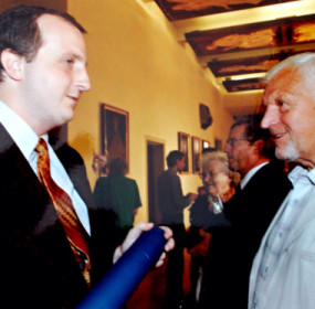 Jiří Sommer na promoci Ondřeje Slaniny v Karolinu - červenec 2010